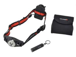LED Lenser LL1025 Twin Pack With H3 Head Torch & K2 Key Light £17.95 (+£3.49 P&P) UK Tool Centre