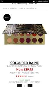 Coloured Raine Queen of Hearts Palette £29.95 Justmylook