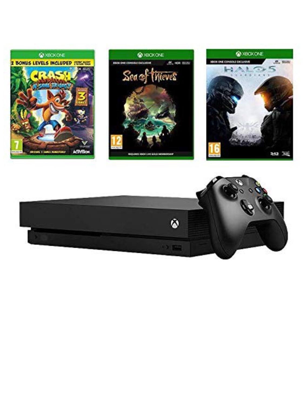 Xbox One X Sea of Thieves bundle + Crash Bandicoot + Halo 5 - £449.99 at Amazon