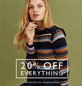 20% off all full priced items at Oasis