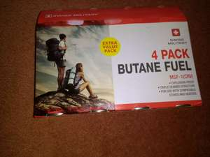 Swiss Military 4 Pack Butane Fuel at B&M for £2.99