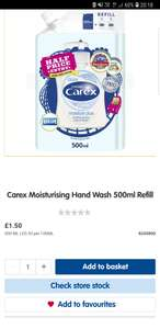 Carex 500ml refill - £1.50 @ Boots (free C&C)