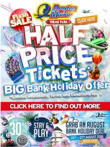 ** Now live ** Half price tickets for Bank holiday weekend £19.50 instead of £39 @ Drayton Manor