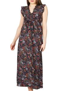 Izabel London ruffle neck Maxi dress £16 with Voucher Code GIMME20 plus Free standard delivery or Free click & collect to your nearest store - Roman Originals
