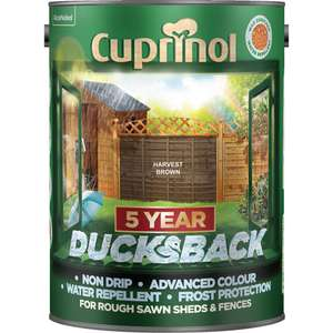 Cuprinol Ducksback Shed and fence treatment 5L Reduced to £8 C+C @ Wilko