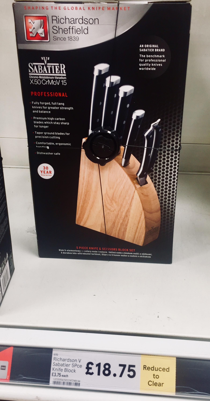 Sabatier Richardson Sheffield 5 Knife Set £18.75 Tesco RUGBY instore