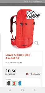 Good quality Lowe Alpine Peak Ascent 32 hiking bag £11.50 + £2.95 delivery  at All Outdoor