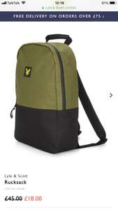 Lyle and Scott rucksack for £21.95 delivered at Lyle & Scott