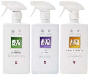 Autoglym Perfect Interior Gift Collection (3 x 500ml Autoglym items) £10  // Autoglym Perfect Wheels Gift Collection £10 @ Halfords