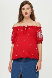 Maternity Cut Out Embroidered Top was £22 now £5 + Free C+C in Up to 70% Off Final Clearance at Topshop - more in OP