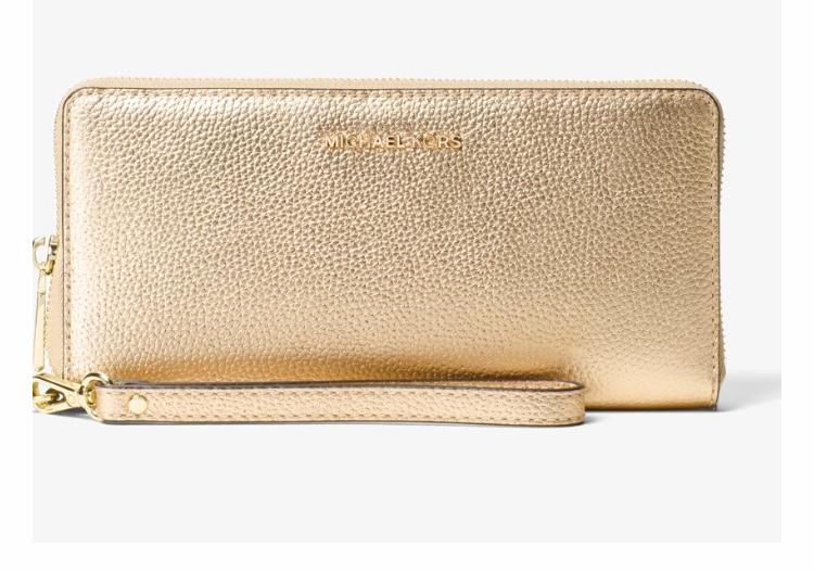 Michael Kors 'Mercer' Metallic Leather Continental Wristlet / Purse / Clutch £43 @ Michael Kors