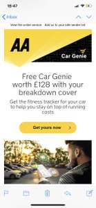 FREE AA CAR GENIE FOR EXISTING AA MEMBERS