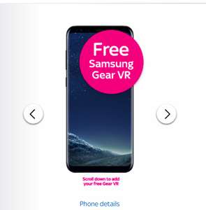 Samsung S8 with Free Samsung Gear VR Headset £25 per month with No Upfront Cost! on SKY Network