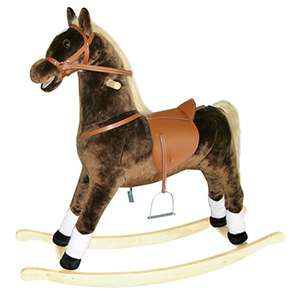 Bino 105 x 30 x 90 cm Maxi Plush Rocking Horse Toy with Sound Effects and Motion (Brown) - £34.27 @ Amazon