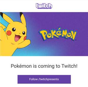 Twitch presents Pokémon the animated series and movies. Starting Monday 27th August 6pm UK time