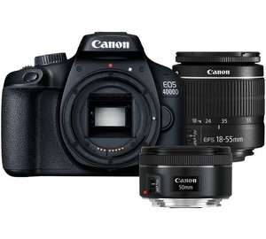 Canon 4000D 18-55mm + 50mm Twin Lens Kit for £379.99 plus Cashback via Redemption at Argos