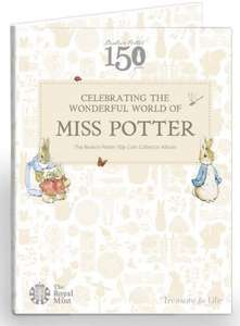 Beatrix Potter 2016 50p Coin Collector Album Back in Stock £5 + £1.50 delivery @ The Royal Mint