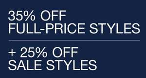 35% off full-price styles + 25% off sale styles at GAP