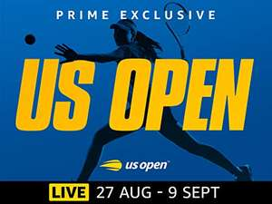 Watch the US Open tennis on Amazon Video for free included with Prime