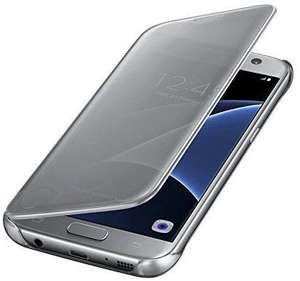 *ONLY 1 IN STOCK* Samsung Galaxy S7 Clear Semi-Opaque Flip View Case Silver - Only £3.93 + £1 No Rush Credit @ Amazon (Prime, Like New)
