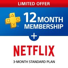 Netflix 3 Month Bundle + PlayStation®Plus (12 MONTH MEMBERSHIP) - £30.48 @ HK PSN Store