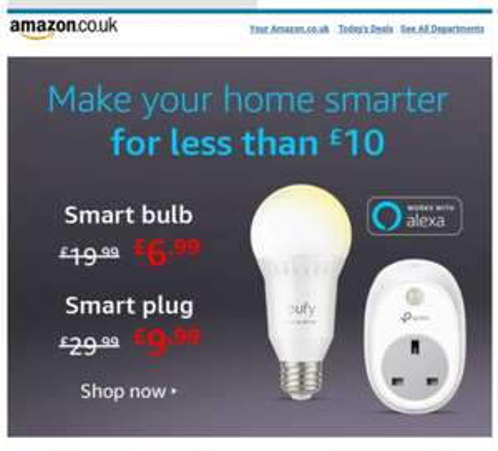 Alexa Smart Plug £9.99 / Smart Bulb £6.99 w/codes @ Amazon - Account Specific