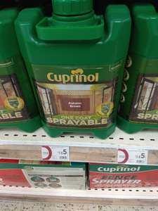 Cuprinol sprayable fence paint 5l £5 instore @ Wilko Tamworth