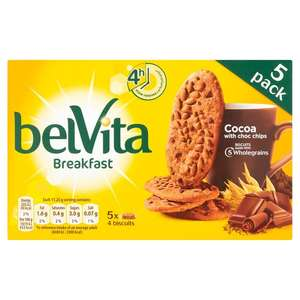 Belvita Breakfast Biscuits 5x45g for 89p at B&M Bargains (in-store)