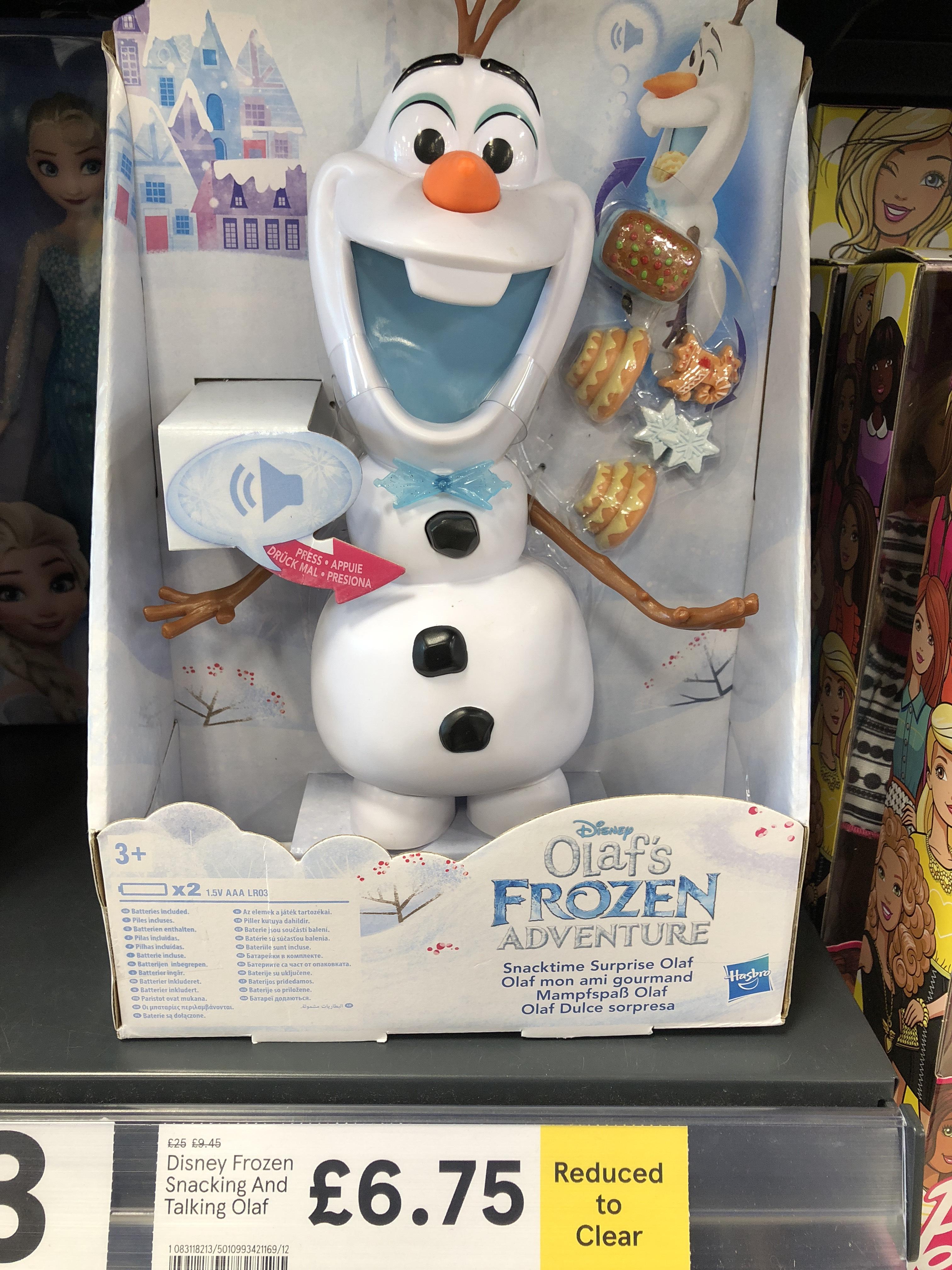 Disney Frozen adventure Snacking And Talking Olaf £6.75 @ Tesco corstorphine edinburgh