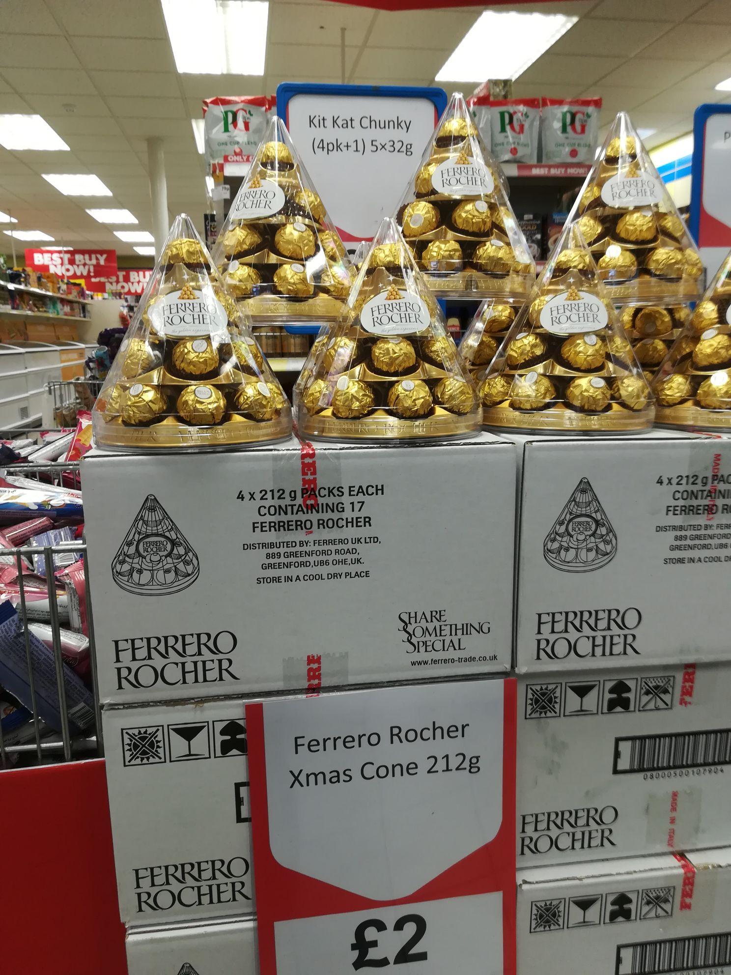Ferrero Rocher Christmas cone £2 Heron Foods, Coventry (National)