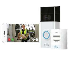 Ring Video Doorbell 2 and Chime Bundle £127.20 plus £10 voucher @Argos Code HOME20
