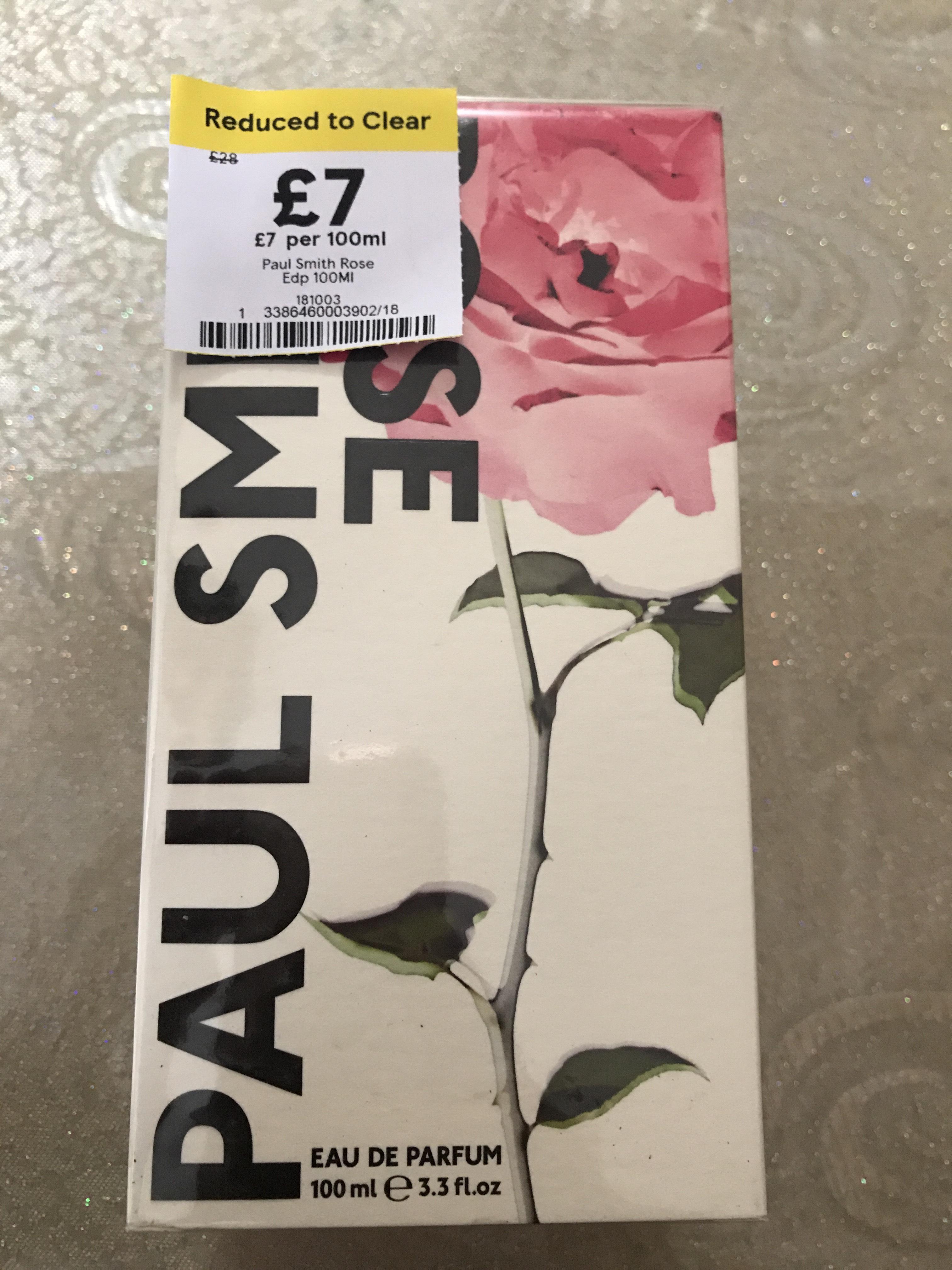 Paul Smith Rose 100ml £7 @ Tesco in store.