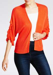 Frill Ribbed Edge to Edge Cardigan £3.50 reduced from £12 Free C&C @ Matalan
