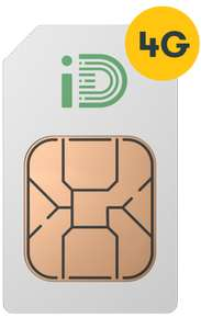 4GB 4G Data (Data Rollover) - 500 Minutes - Unlimited Texts - 30 Days Sim @ iD Mobile (Moneysupermarket) £8