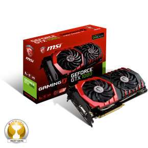 MSI GTX 1080 GAMING X 8GB GDDRX Graphics Card with FREE CPU Cooler £479.97 **Now £469.97** at Ebuyer