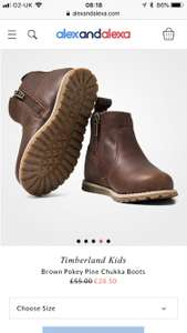 Timberland Kids Boots £19.95 / £23.90 Delivered @ Alexandalexa