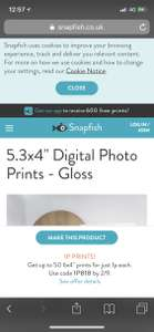 "50 x 6x4"" Digital photos for 1p each + 99p delivery = £1.49 @ Snapfish"