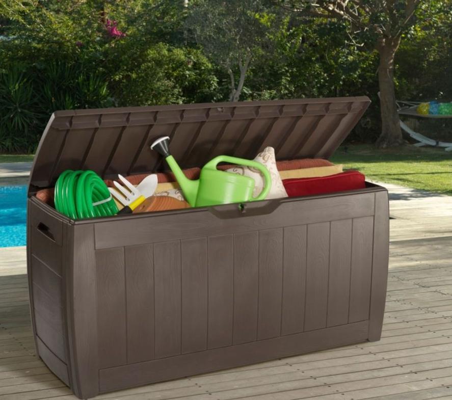 Keter Hollywood 270 L Wood effect Garden storage box £20 @ B&Q (free c+c)