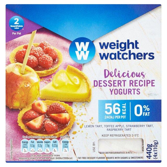 Weight Watchers Dessert Recipe Yogurts 4 x 110g 60p @ Heron Foods