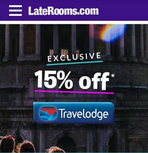 15% off Travelodge Bookings at Laterooms.com
