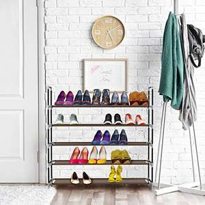 Sable Shoe Rack, 5 Tiers - Holds up to 25 Pairs Shoes now £11.99 Prime / £14.99 non prime @ Sold By Sunvalley-Tek Fulfilled by Amazon