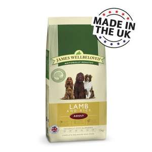 James Wellbeloved - Lamb & Rice Adult Dog Food 18kg  £35.09 with code from Zooplus