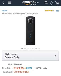 360 Camera - Ricoh Theta S £149.99 @ Amazon
