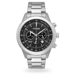 Citizen Mens Stainless Steel Bracelet Watch - Quality watch for less than £100