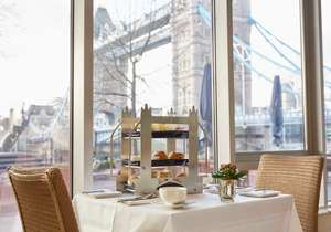 Afternoon Tea for Two with Tower Bridge / River Thames View at The Tower Hotel, London now £21.21 (£10.60pp) with code via Groupon