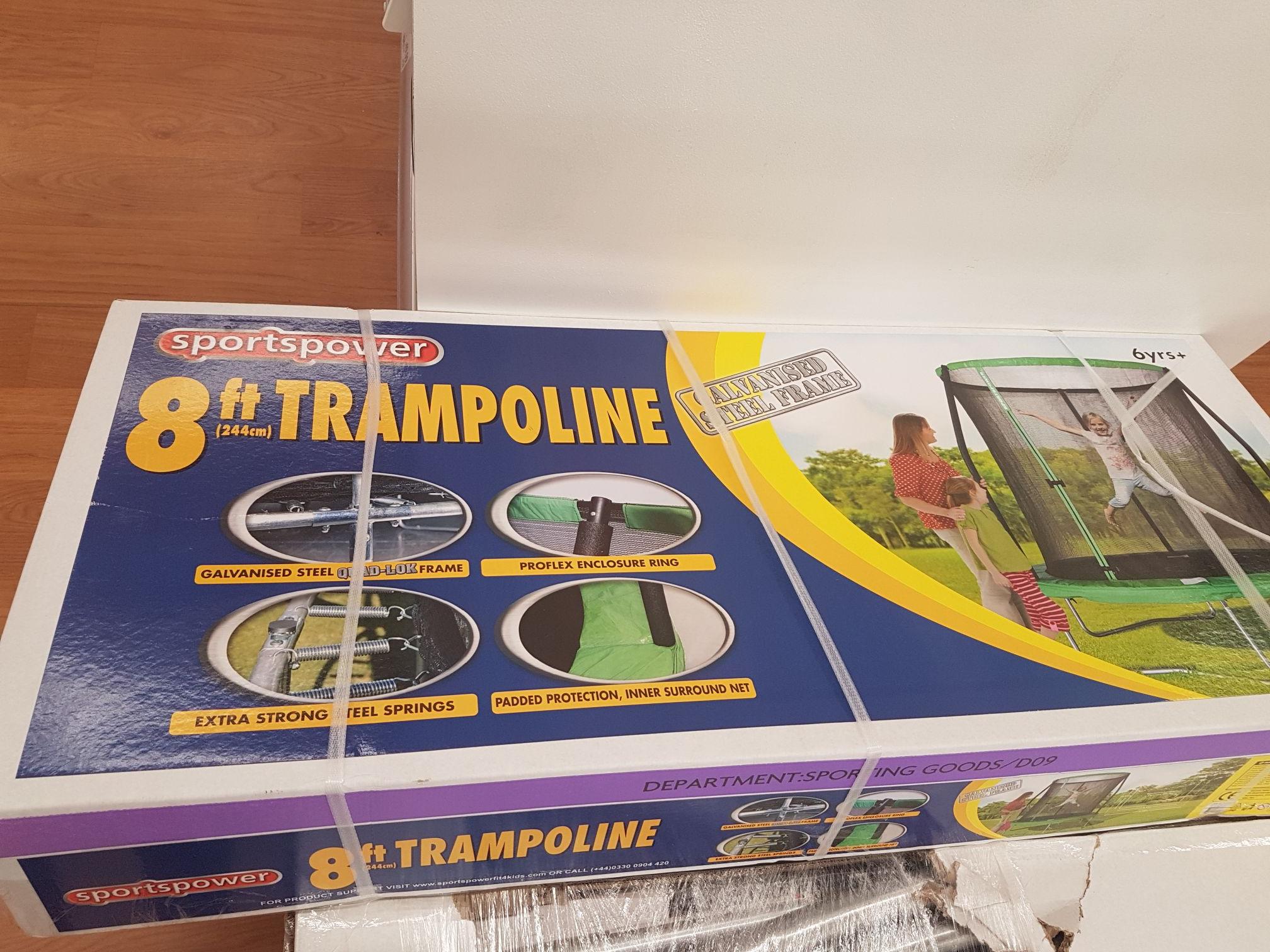 8ft Trampoline with enclosure £22.25 @ Asda - Stafford