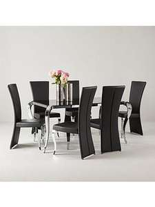 Price £559* (Was £699) Boutique 163 cm Dining Table + 6 Chairs (arrives in one delivery) £559 / £573.99 delivered @ very
