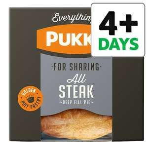 Pukka Pies Large All Steak 550G & Chicken & gravy 550g only £2 from 29th Aug @ Tesco