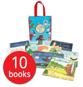 Julia Donaldson Picture Book Collection (in a bag) - 10 Books (Collection) only £11 delivered with code @ The Book People [The Gruffalo / The Gruffalo's Child / Room on the Broom / Cave Baby + more]