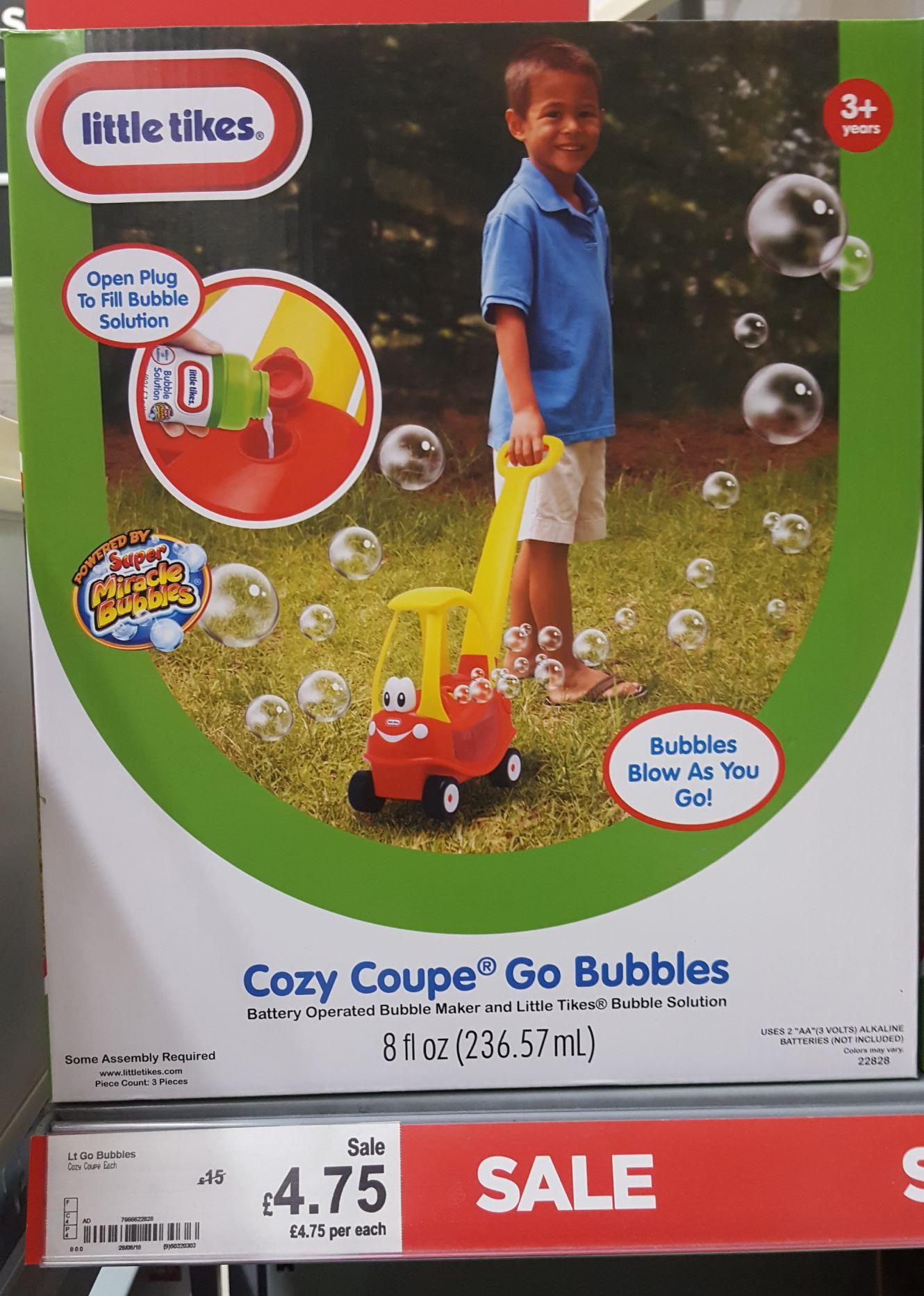 Cozy Coupe Go Bubbles Asda £4.75 instore (Govan)